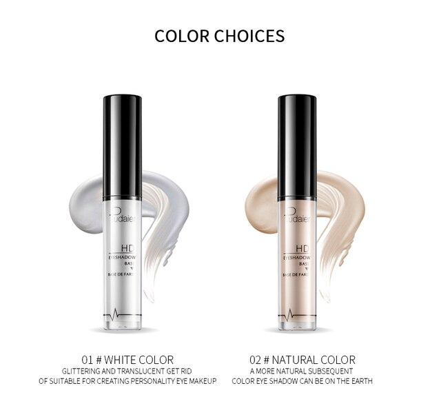 Pudaier 5ml Eye Face Base Primer Prolong Makeup Eye Primer Long Lasting Smudge-proof Make Up Natural Eye Color Cream TSLM2 3