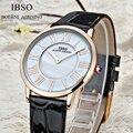 IBSO Relógio de Couro As Mulheres se vestem relógios horas relógio Feminino relógio de Quartzo Relógio relógio de Senhoras moda Casual relogio relojes 2016