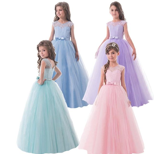2018 New Brand Flower Girls Dress Teenager Princess Wedding Party ...