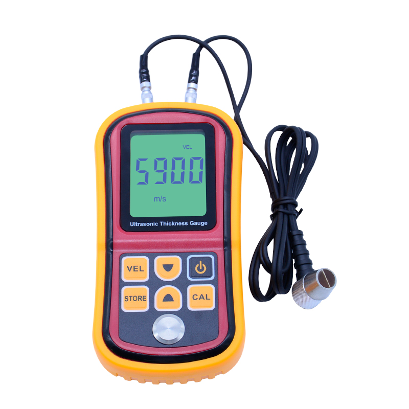Digital LCD Ultrasonic Thickness Gauge Meter GM100 high precision Steel thickness tester 1.2-225mm 0.1mm Resolution as840 ultrasonic thickness gauge 1 2 225mm 1000 9999m s smart sensor portable thickness meter tester