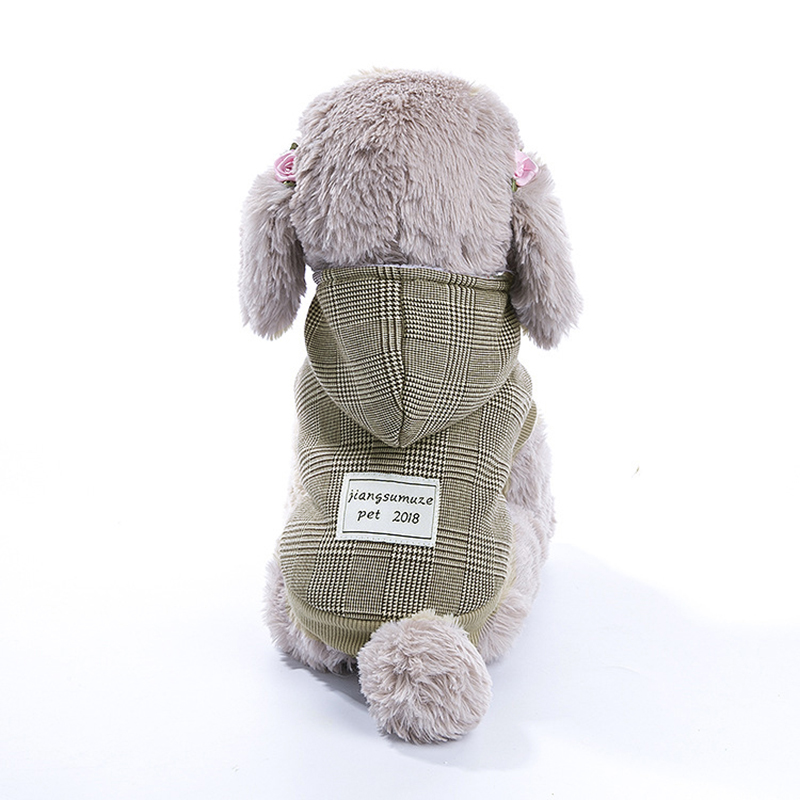 Hoomall Soft Thickening Cotton Puppy Dogs Coat Jackets Autumn Winter Warm Hooded Pet Dog Clothes With Hood Pet Accessories