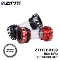 ZTTO Ceramic Bearing BB109 Bottom Brackets For BSA68 ISO 73 BSC BSA MTB Road bike 24mm 22mm GX m8000 Bottom Brackets DA r8000