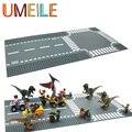Placa de Base Da Estrada Da Rua Lâmpada de Rua da cidade Pequena Blocos de Construção Tijolo Brinquedos Junções Placa Compatível com Legoe Presentes de natal