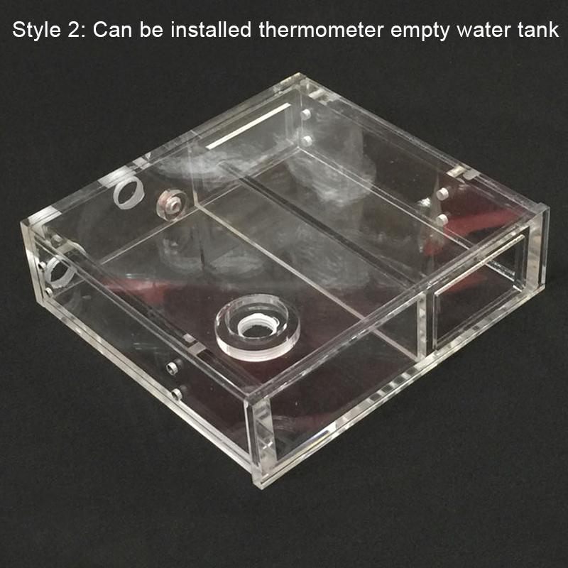 Image 2 - Transparent Acrylic Computer Water Cooler Water Tank Radiator Water Block Temperature Wheel CD ROM Single Drive Water Tank-in Fans & Cooling from Computer & Office