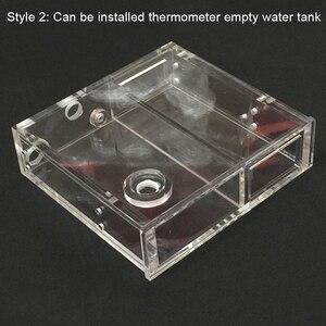 Image 2 - 透明アクリルコンピュータ水クーラー水タンクラジエーター水ブロック温度ホイールcd romシングルドライブ水槽
