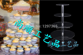 Free shipping acrylic 5 Tier wedding cake topper for wedding cake decoration supplies cake stand decoration
