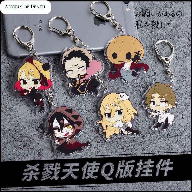 Anime Angels of Death Ray Keychain Rachel Gardner Acrylic Key Ring Pendants 1pcs