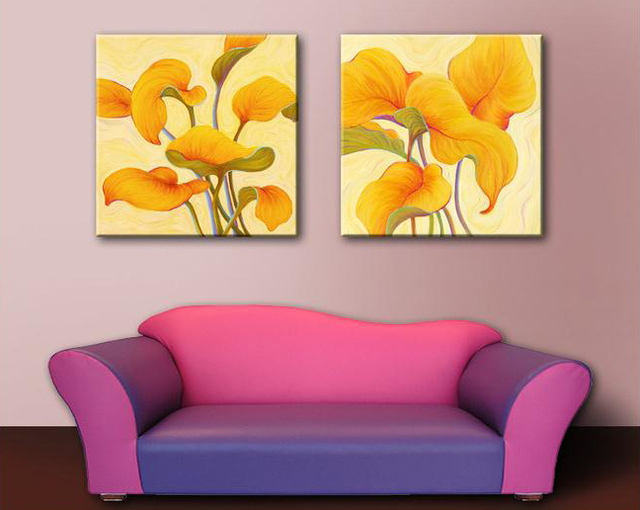 100% hand painted oil painting abstract Elegant chinese Lotus art ...