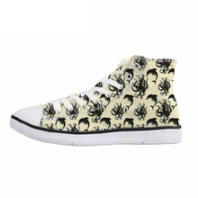 NOISYDESIGNS Octopus Dolphin Print Women High Top Canvas Shoes Novelty Casual Comfortable Lace Up Sneakers Girls