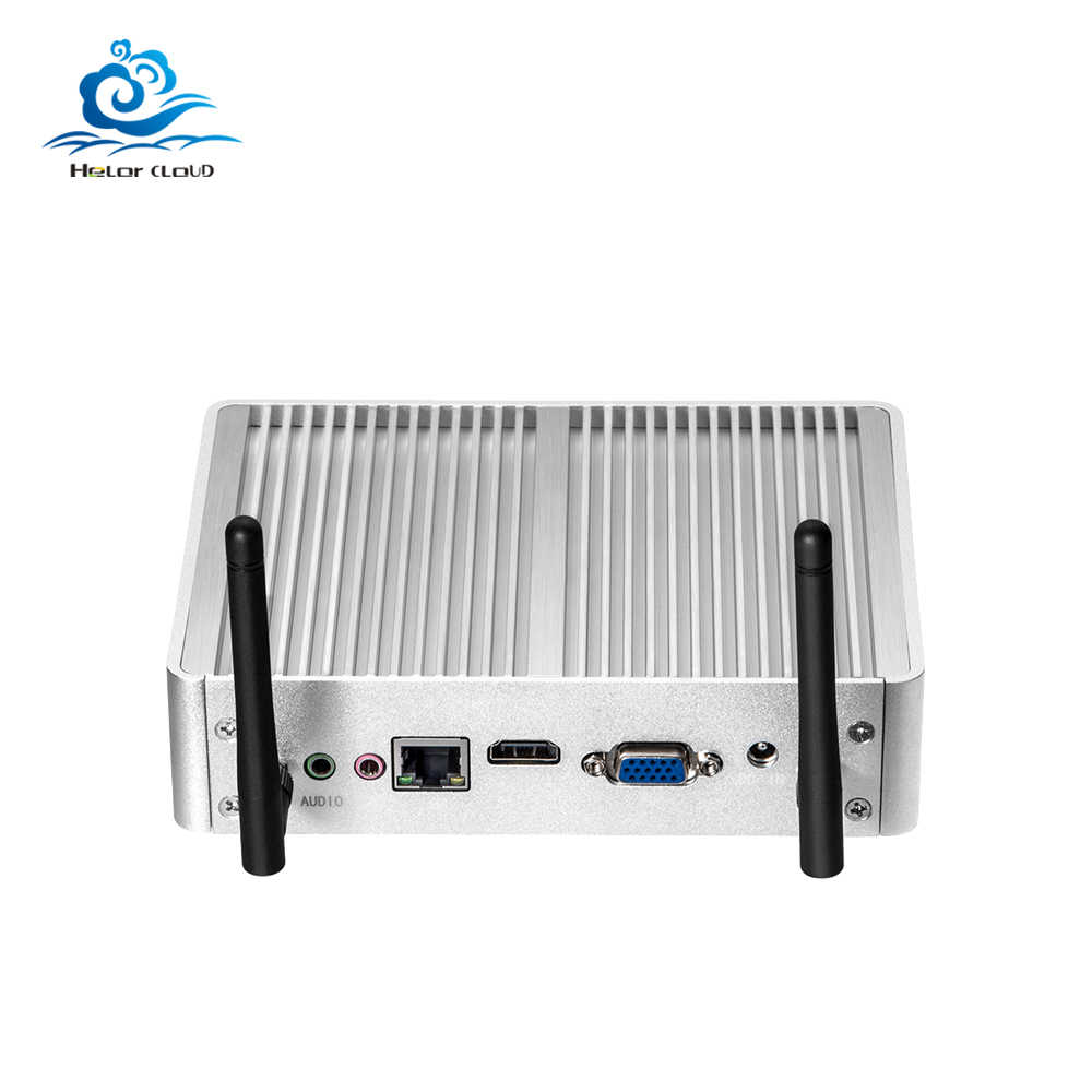 Hly Mini PC Intel Core I7 4610Y 1.70G Hz PC Mini Windows 10 Tanpa Kipas Komputer Mini Barebone PC DDR3 Ram HDD NUC HDMI Wifi USB3.0