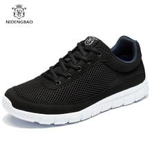 NEEDBO Summer Men Casual Shoes Breathable Mesh Lace Up Flats Shoes Lightweight Comfortable Black Walking Shoes Men цена 2017