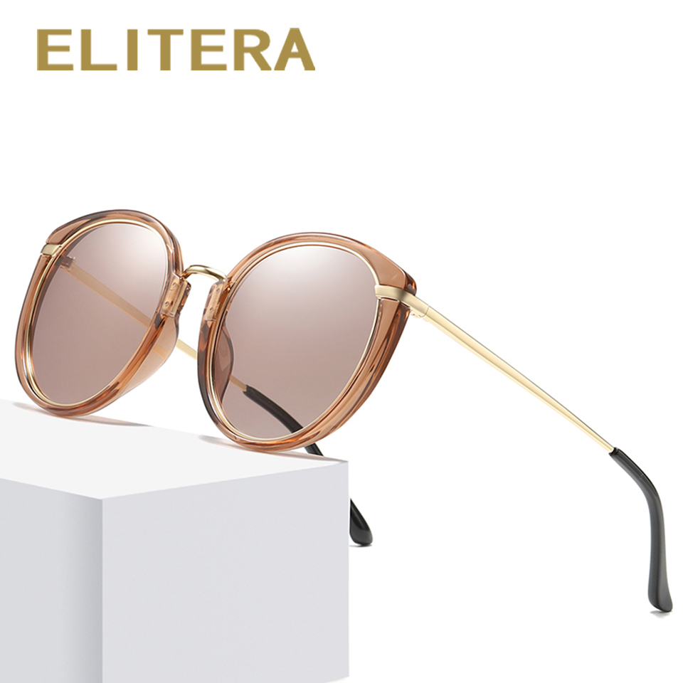 ELITERA Brand Design Retro Sun Glasses For Women Men Travel Eyewear Polarized Sunglasses Lady Driving Fishing Eyeglasses