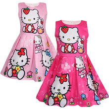 Fashion Girl Dress Summer Hello Kitty Dress Girl Party Dress Birthday