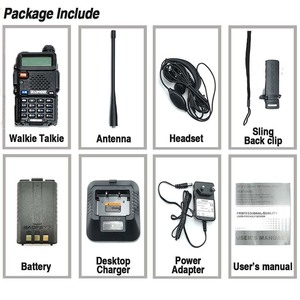 Image 5 - Baofeng UV 5R Walkie Talkie UHF VHF Jagd Radio Baofeng UV 5R Ham Radio Station Handheld Cb Radio Comunicador Transceiver UV5R