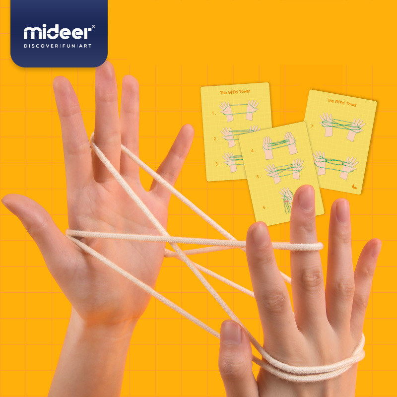 MiDeer Cat's Cradle Classic Game Children String Hand Game Finger String Toy For 2~4 Players 6Y+