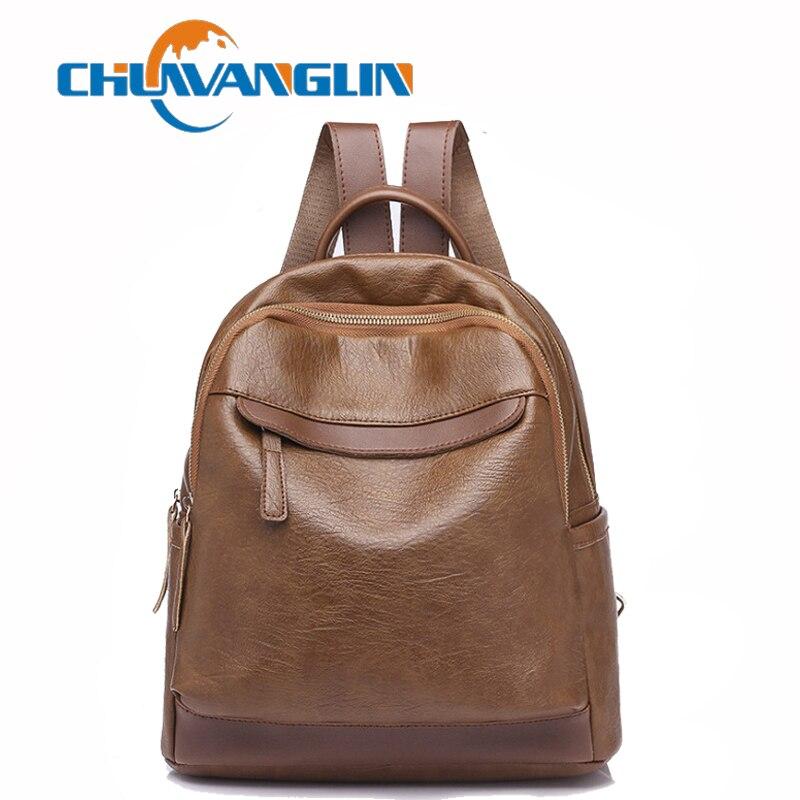 a8831ac4c37e Chuwanglin Новая мода рюкзак кожаные женские рюкзаки для школы и отдыха  водонепроницаемый дорожные сумки ежедневно женская