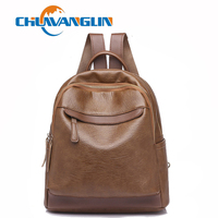 Chuwanglin New fashion backpack leather women backpacks Leisure school bags waterproof travel bags Daily feminine bag C228