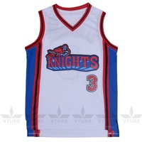 VTURE Like Mike Movie Knights 3 Calvin Cambridge Basketball Jersey Embroidered And Stitched White