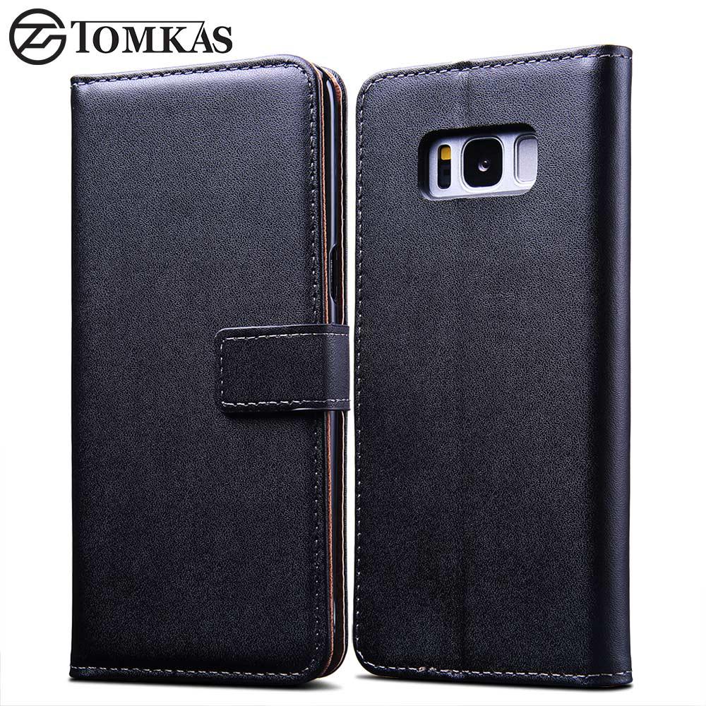 TOMKAS Kasus Untuk Samsung Galaxy S8 PU Dompet Kulit Penutup Bisnis - Aksesori dan suku cadang ponsel - Foto 2