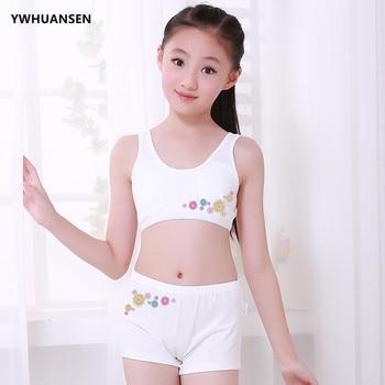 15dbaf359382 YWHUANSEN 2 unids/set ropa interior de niña adolescente + ropa deportiva de  entrenamiento para