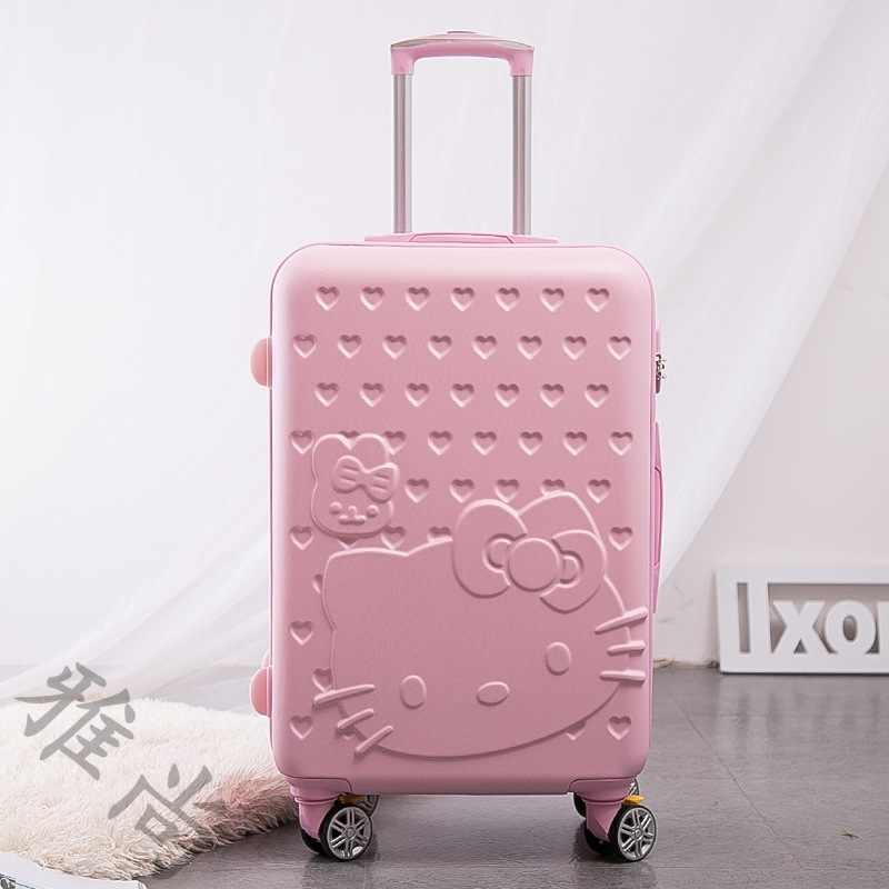 """Новый мультяшный Двухсекционный чехол на колесиках, универсальный чемодан на колесах, 24 """"чемодан с паролем, 20"""" пансион, Изысканные Подарки"""