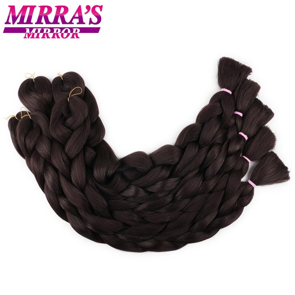 Зеркальные синтетические плетеные удлинители волос Mirra's, вязаные крючком волосы, окрашенные волосы для косичек, 82 дюйма, розовые, синие, сер...