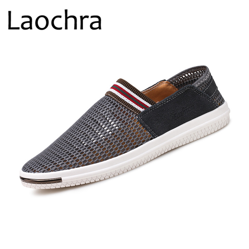 LAOCHRA Men Breathable Mesh Fashion Shoes Mens Cool Summer Moccasins - Men's Shoes - Photo 2