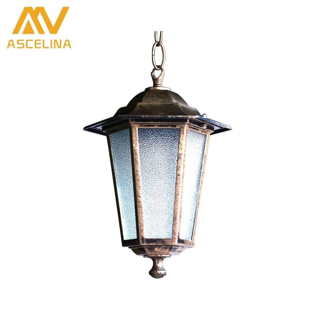 ASCELINA loft outdoor pendant lights antique retro vintage lamp Industrial Lighting Pendant light fixtures Glass Lampshade E27