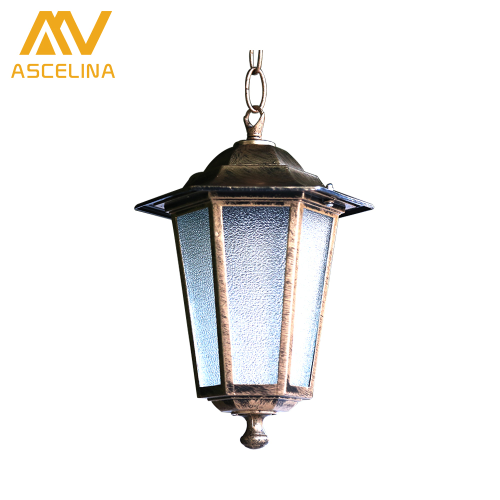 ASCELINA loft outdoor pendant lights antique retro vintage lamp Industrial Lighting Pendant light fixtures Glass Lampshade E27 vintage pendant light exotic colored glass lampshade modern industrial bar christmas tree bedroom antique fixture retro loft
