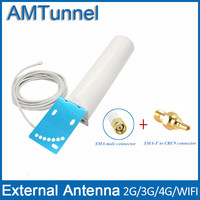 3G 4G Antenna 4G LTE External Antennna SMA Male 12dbi With 5m Cable And SMA Female