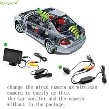 Cls Professional  2.4G Wireless Color Video Transmitter and Receiver for The Vehicle Backup Camera/Front Car Camera Jun10