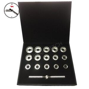 Image 1 - คุณภาพสูง 19.3 มิลลิเมตร ~ 44.7 มิลลิเมตรนาฬิกาสแตนเลสกลับกรณีเปิดสำหรับ Breitling นาฬิกา, 15 ชิ้น assort ขนาด Openers Kit