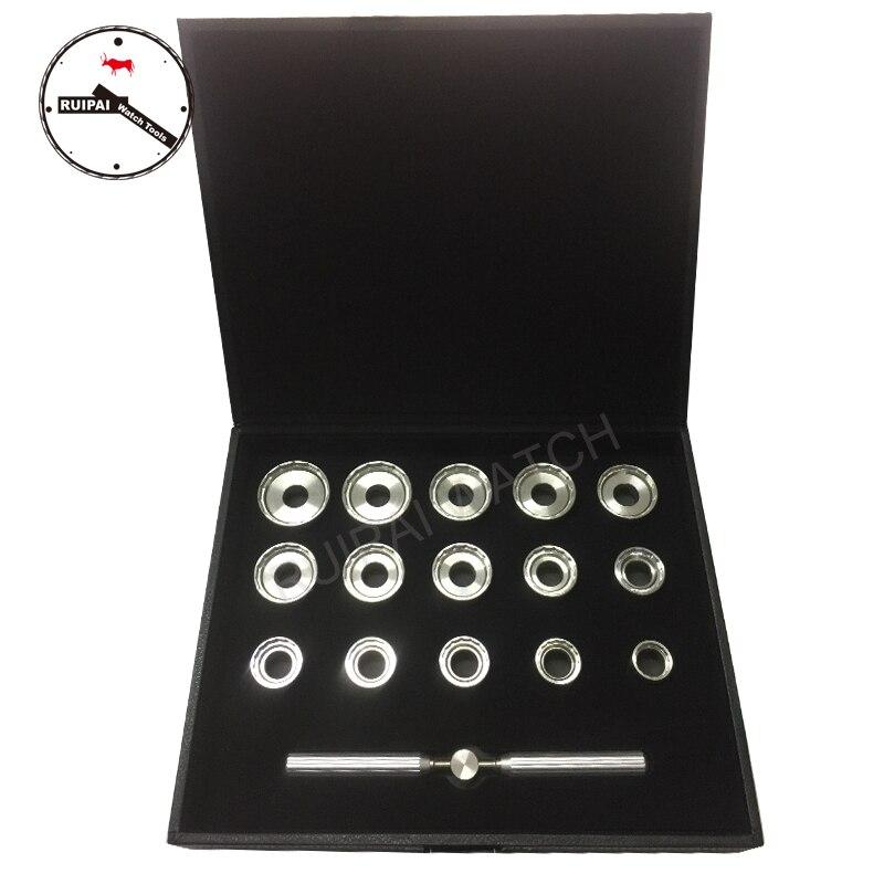 Haute qualité 19.3mm ~ 44.7mm en acier inoxydable montre arrière ouvreur de boîtier ensemble pour montres Breitling, 15 pièces assort taille montre ouvre Kit