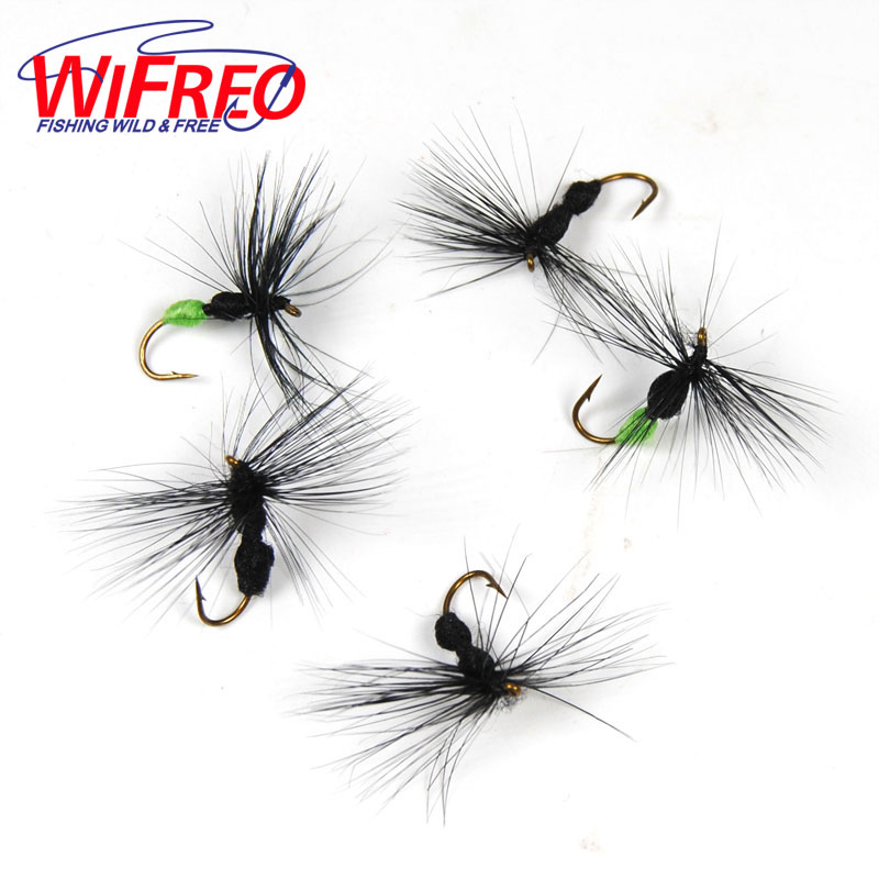 10PCS Wifreo Ant Fly Black & Green Butt Ants for Trout Fly Fishing купить