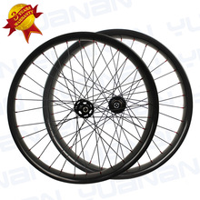 Full Carbon Fatbike Wheels Snow Wheels 65/80/90mm Width Bicycle Wheel Rims Fat Bike Novatec D771/D772 or POWERWAY M42 Disc Hub(China)