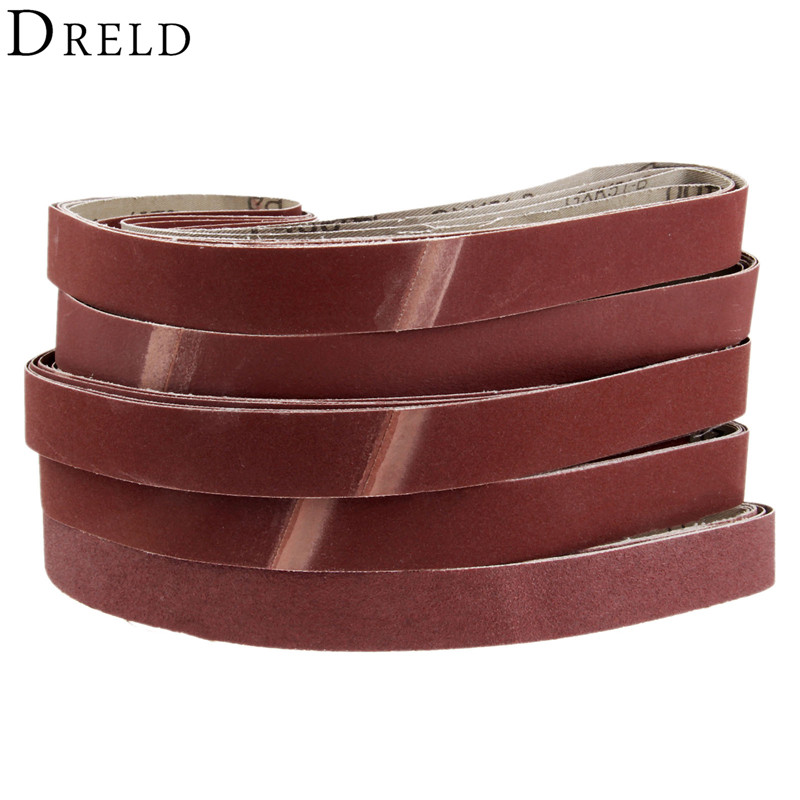 DRELD 5Pcs 760*25mm Abrasive Sanding Belts 1