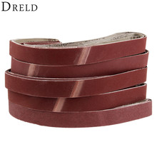 DRELD 5Pcs 760*25mm Abrasive Sanding Belts 1x30 Paper for Belt Sander Grinding Polishing Woodworking Tool 120-600 Grit