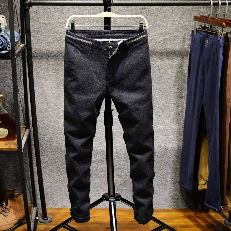 Men's Business Casual Pants Cotton stretch small right angle leisure trousers Personality fashion urban trousers Plus Size