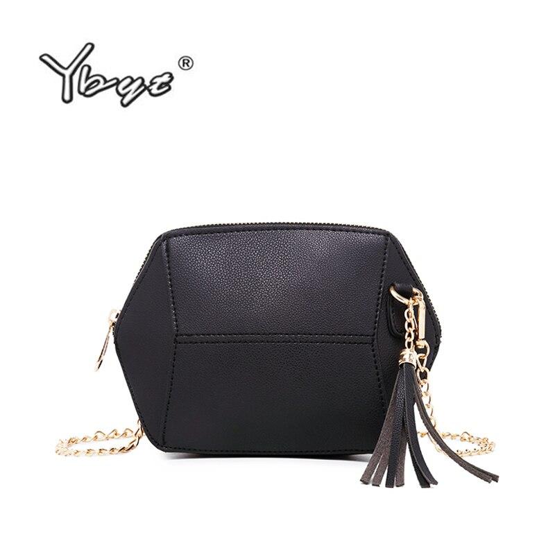 YBYT marque 2018 nouvelle mode épaule messenger sac bandoulière en cuir PU femmes satchel chaîne shell pack gland de soirée sacs