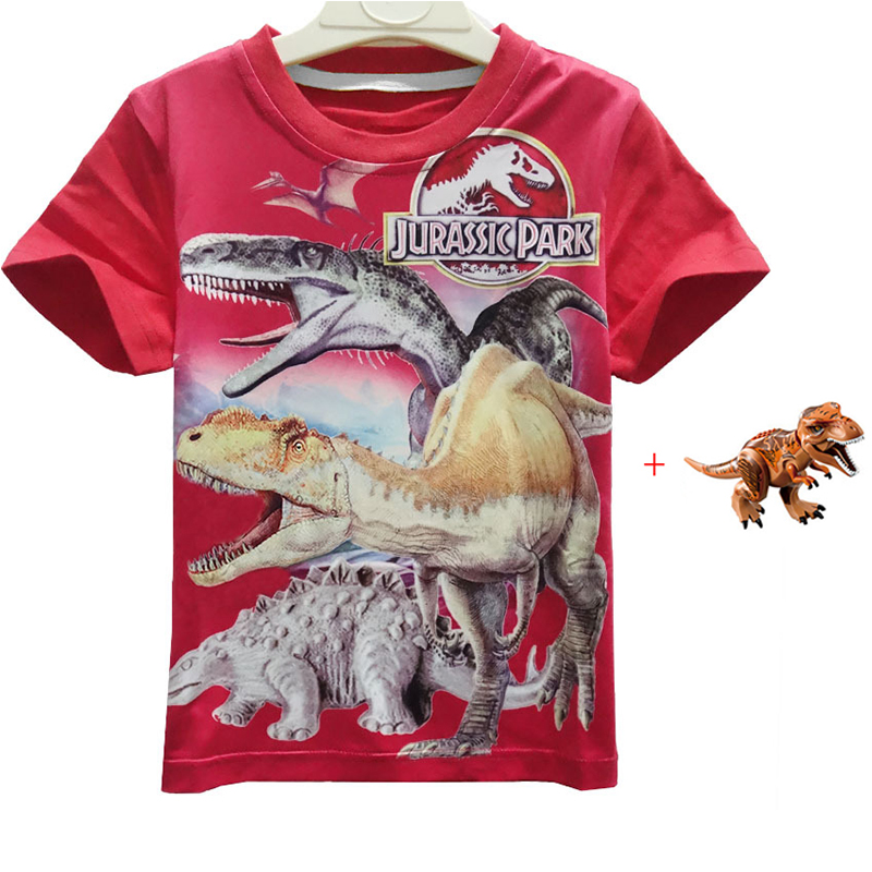 New Jurassic World <font><b>2</b></font> dinosaur tshirt Kids Shorts Tops Tees Children T <font><b>Shirt</b></font> Summer Teenager Boys Dragon T-<font><b>Shirt</b></font> For boys Toys image