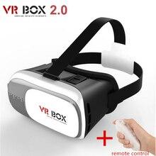 Hot Google CAJA de Cartón VR II Versión 2.0 VR Realidad Virtual 3d gafas de vídeo para el iphone 3.5-6.0 pulgadas + control remoto Gamepad