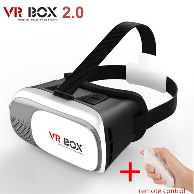 Hot google caixa de papelão vr ii versão 2.0 vr realidade virtual 3d óculos de vídeo para iphone 3.5-6.0 polegadas + controle remoto Gamepad