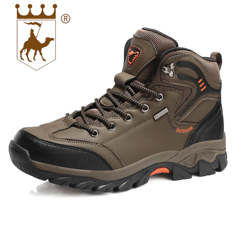 BACKCAMEL 2018 Autumn Winter New Men's Outdoor Sports Shoes High-top Non-slip Wear Men Boots High Quality Sneaker Size 39-47 mulinsen brand new fall winter men sports hiking shoes cowhide sport shoes wear non slip sport outdoor sneaker q270619 1