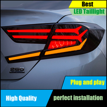 лучшая цена Car Styling For Honda Accord 10th Sedan 2018 Tail Light Assembly LED Dynamic Turn Signal TAIL Lights LED Taillight LED Rear Lamp
