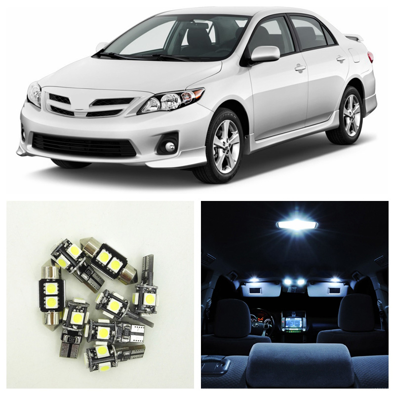 For Subaru Legacy 2010~2013 10x LED Canbus Lights Interior Package Kit Ice Blue