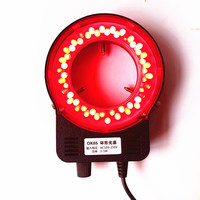 LED Ring Light for Microscope Illumination Inner Diameter 55mm Red LED Light Machine Vision Inspection Lamps Industrial Lighting