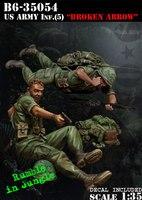 Modelos em escala 1/35 SEGUNDA GUERRA MUNDIAL Do Exército DOS EUA Inf. Broken Arrow soldados figura Histórica DA SEGUNDA GUERRA MUNDIAL Resina Modelo Frete Grátis