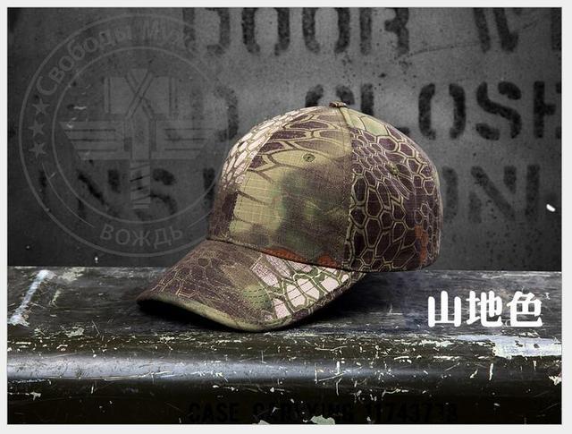Camuflagem chapéu ao ar livre soldado Americano cascavel python padrão de camuflagem boné de beisebol fãs ao ar livre essencial