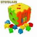 UTOYSLAND Forma Sorting Cube Crianças Colorido Bloco Brinquedos Educativos Bebê Grande Triagem Forma Presente Entrega Aleatória