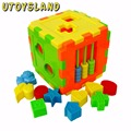 UTOYSLAND Shape Sorting Cube Kids Colorful Block Toys Baby Educational Great Shape Sorting Gift Random Delivery